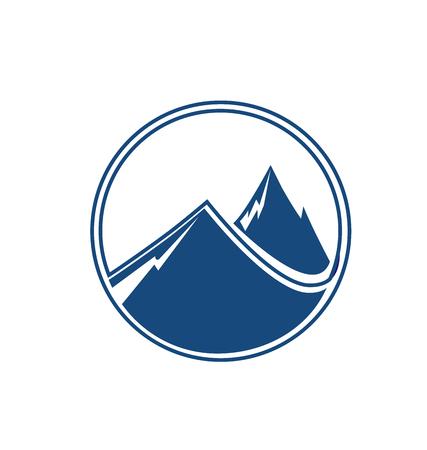 Emblema Mointain retrato vectorial Foto de archivo - 42403043