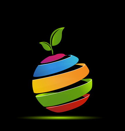 business meeting: Apple symbolic technology application vector