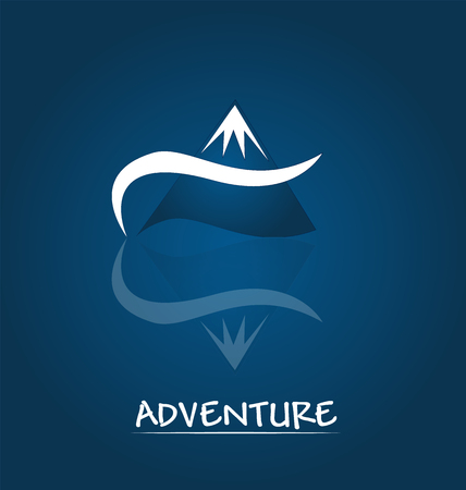 Adventure blue mointain portrait vector