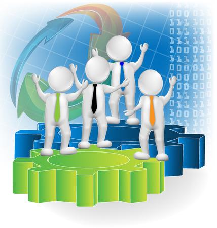 Teamwork 3d business people