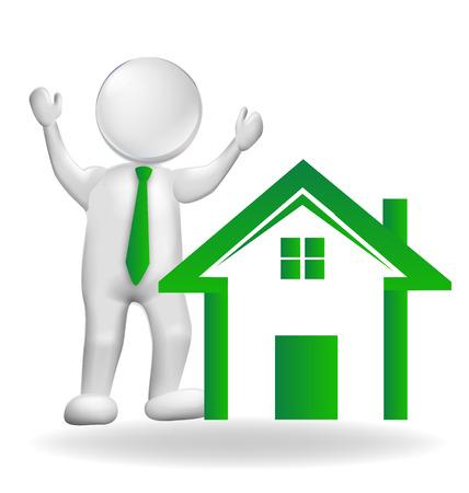realtor: House and realtor vector design Illustration