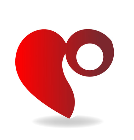 unify: Love heart figure logo vector