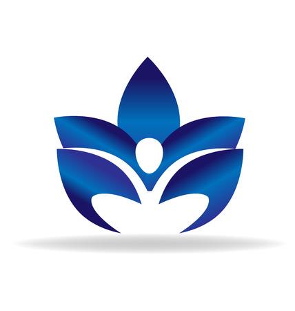 Imagen vectorial figura azul Lotus Vectores
