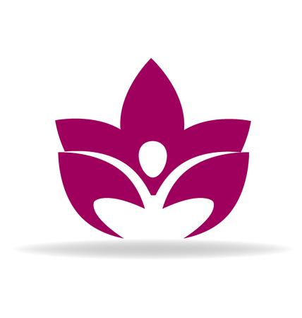 team lotus: Lotus figure vector image Illustration