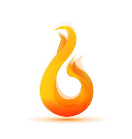 webtemplate: Fire flames vector Illustration