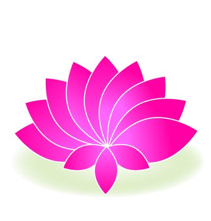 Pink lotus logo on a pond vector 向量圖像