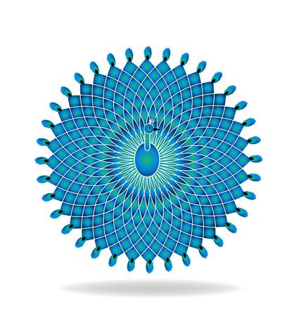 pheasant: Peacock logo beautiful abstract bird vector design Illustration