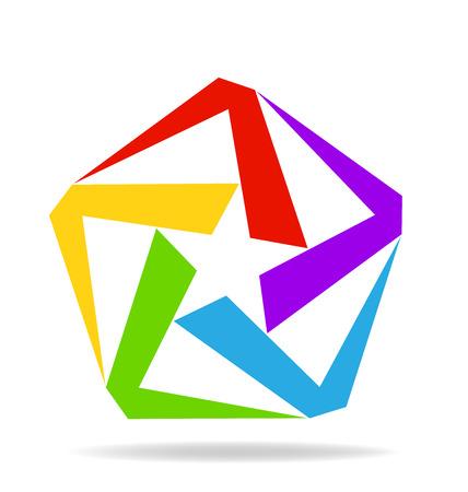 la union hace la fuerza: Logo Estrella imagen vectorial icono de negocio de diseño