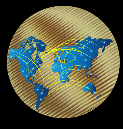 Map globe connected business web logo  template Ilustrace