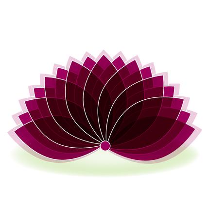 massage: Lotus symbol flower logo art background