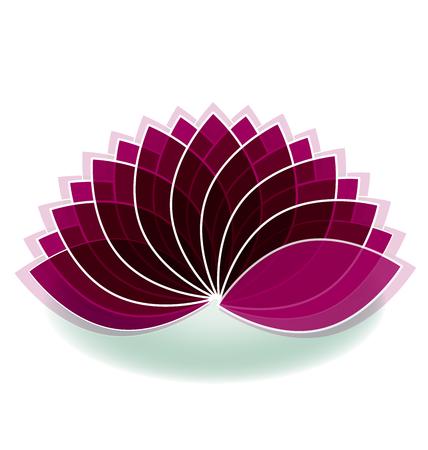 Lotus symbol flower logo art design Stock Illustratie