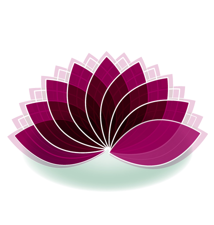 beautiful flowers: Lotus symbol flower logo art plant Illustration
