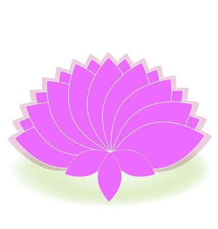 pink flower: Lotus symbol pink flower logo art Illustration