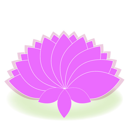 Lotus symbol pink flower logo art Illustration