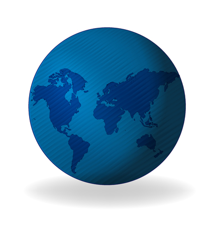 gold colour: Map globe connected business web logo  template Illustration