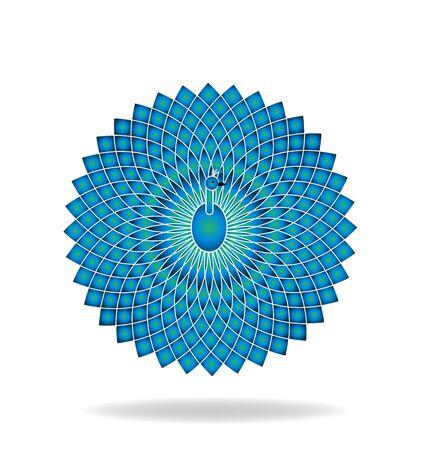 graphic: Peacock graphic logo icon