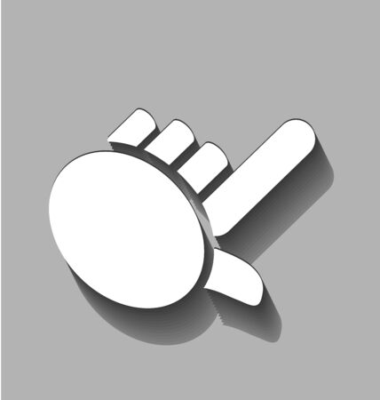 swooshes: Flat hand icon vector image Illustration