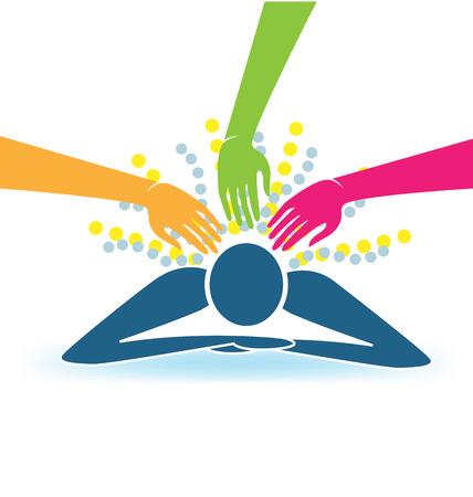masaje deportivo: Masaje vector logo Vectores