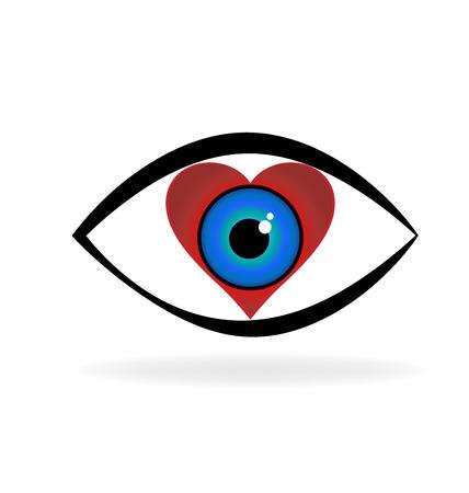 Eye love vector logo Illusztráció