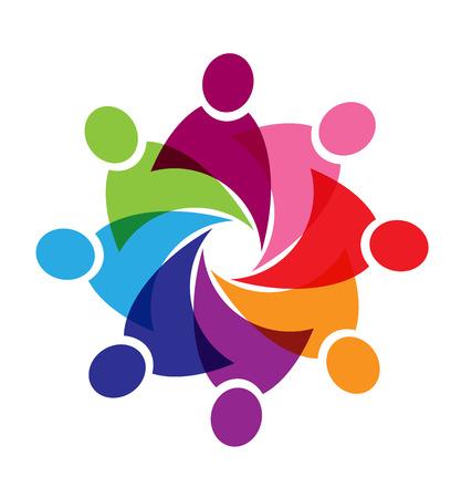 diversidad: El trabajo en equipo ayuda a personas del vector