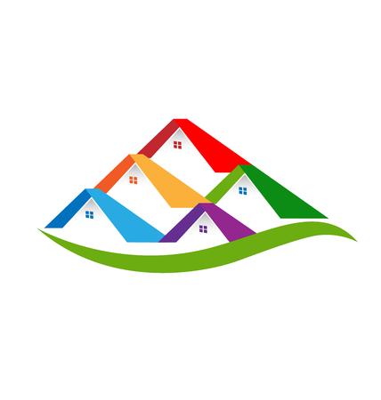 Real estate houses logo business design