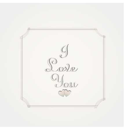 i love you: Valentines day I love you on white background