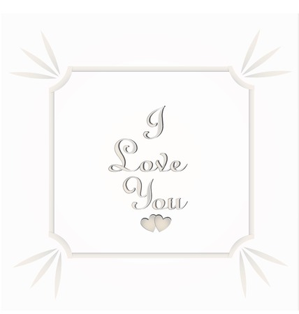 Valentine's day text of I love you on white background Ilustração