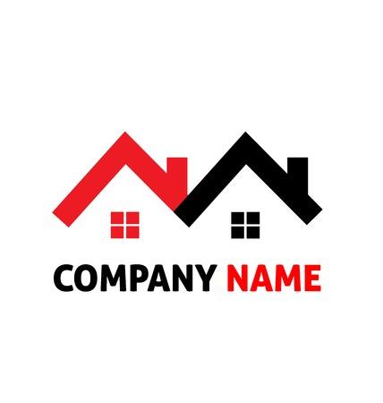 L'image de l'immobilier logo vecteur abrite Illustration