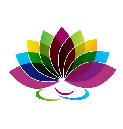 Lotus Flower carte d'identité logo vecteur Banque d'images - 46223001