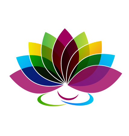 Vetor de logotipo de cartão de identidade de flor de lótus Foto de archivo - 46223001