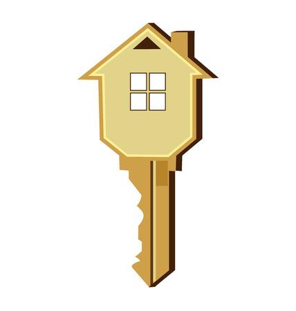 Dom klucz logo wektora projektu