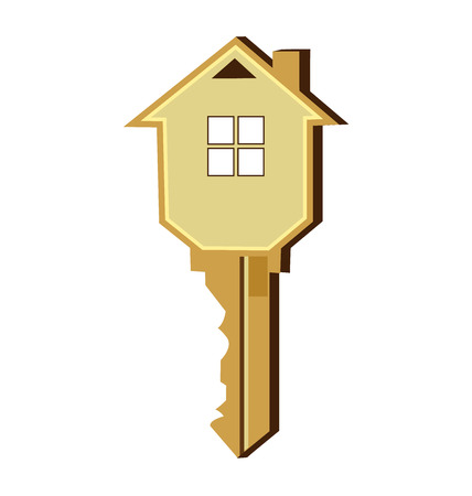 estate: Key house logo vector design