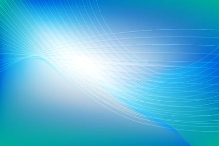 blue green background: Futuristic blue green wavy glowing background Illustration