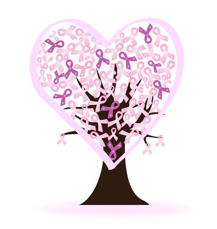 cancer ribbons: Breast cancer logo awareness ribbons symbol vector Illustration