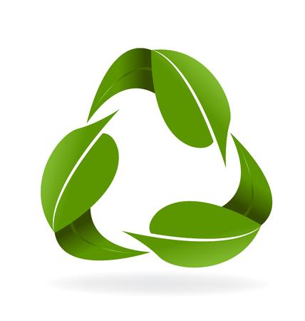 Groen doorbladert recycleren symbool