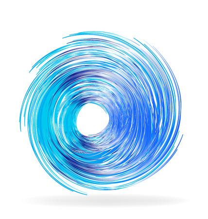 Blue waves vibrant color