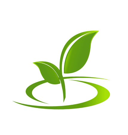 leaf logo: Leafs Health nature identity business card Illustration