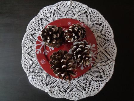 festoons: Christmas cone pine decoration Stock Photo