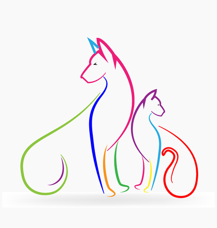 Cat and Dog logo Ilustrace
