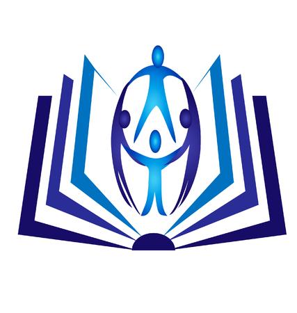 Teamwork open boek logo vector