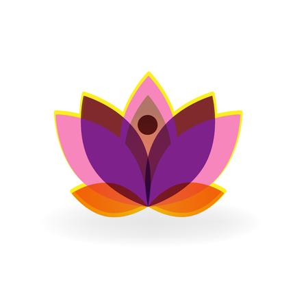 royalty free photo: Logo lotus purple flower vector