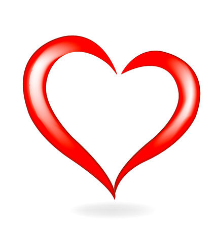 Valentines heart love icon logo vector