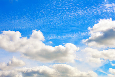 vivid: Cloudy blue vivid sky Stock Photo