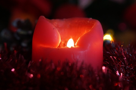 christmas candles: Christmas  candles decoration background Stock Photo
