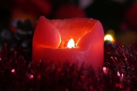 christmas background: Christmas  candles decoration background Stock Photo