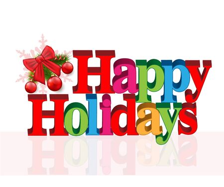 greetings card: Happy holidays greetings card Illustration