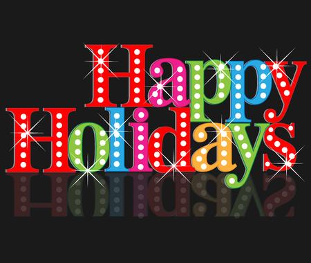 Happy holidays greetings card Illustration