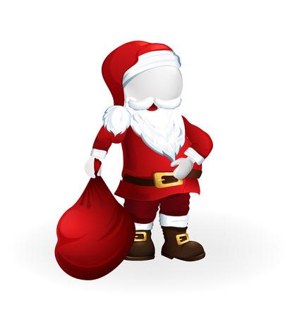 Happy Christmas Santa Claus 3D