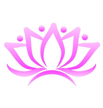 Lotus flower logo business card Illustration