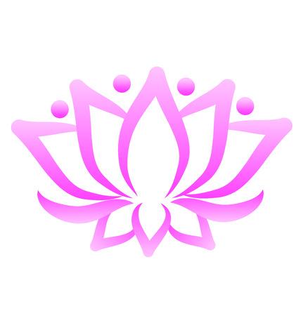 logo vector: Lotus flower logo vector